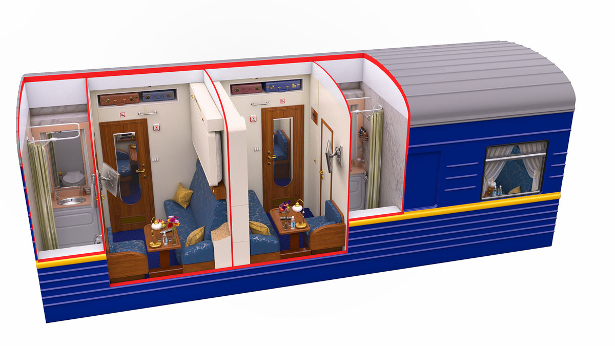 Luxury train travel on board the golden eagle for Trans siberian railway cabins