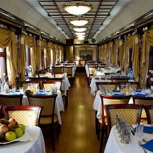 Restaurant Car on board the Danube Express