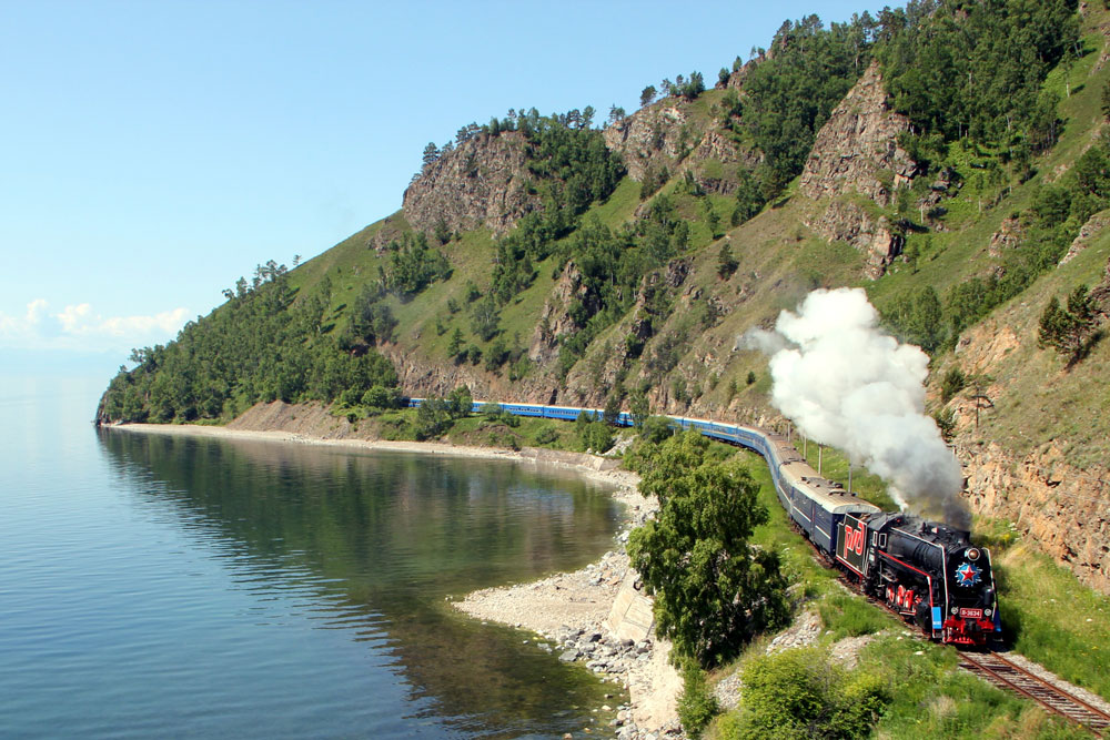 Experience the Pearl of Siberia, Lake Baikal, by steam train