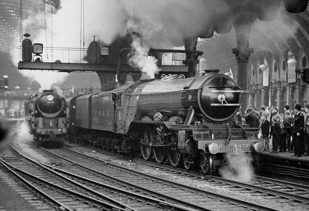 Flying Scotsman at York station in 1966