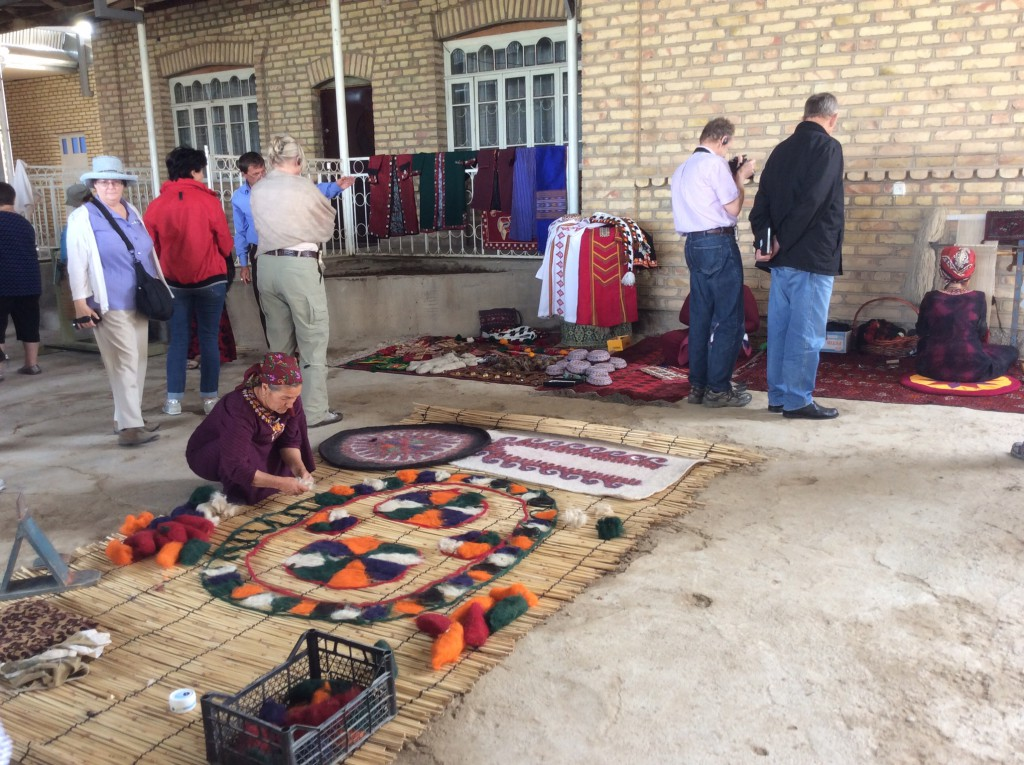 Local handicrafts market in Merv