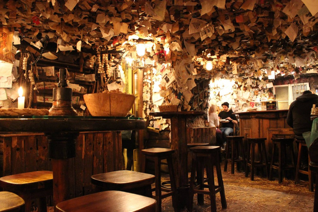 Inside the For Sale Pub, Budapest