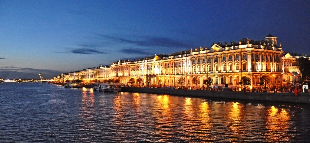 The Hermitage Museum during White Nights