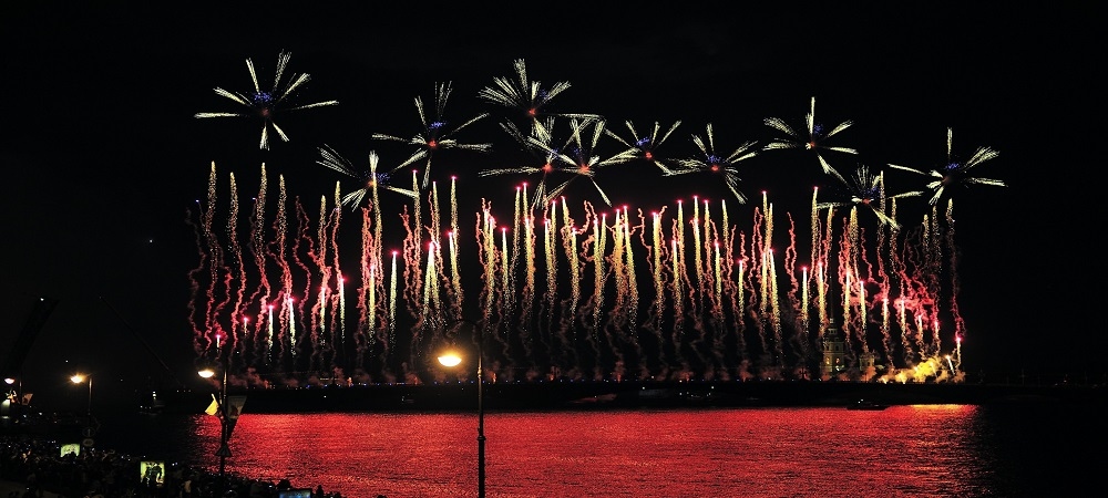 Fireworks at the Scarlet Sails Show, Saint Petersburg