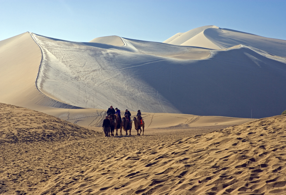 Sand dunes on the Silk Road
