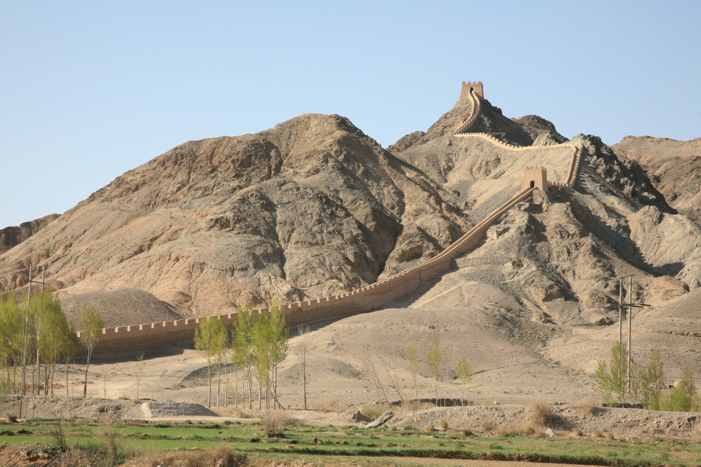 The Overhanging Great Wall in Jiayuguan