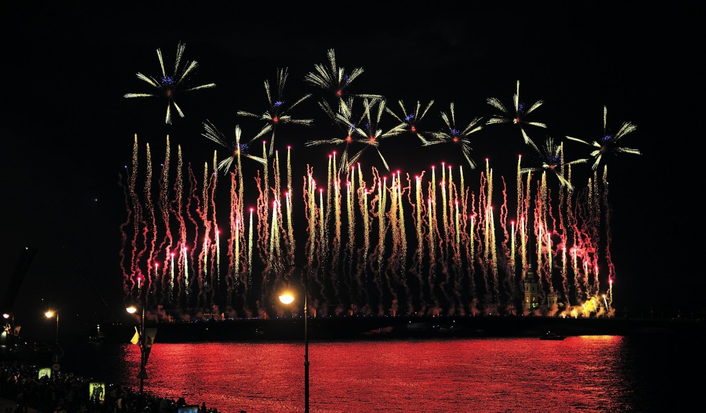 Fireworks at Scarlet Sails