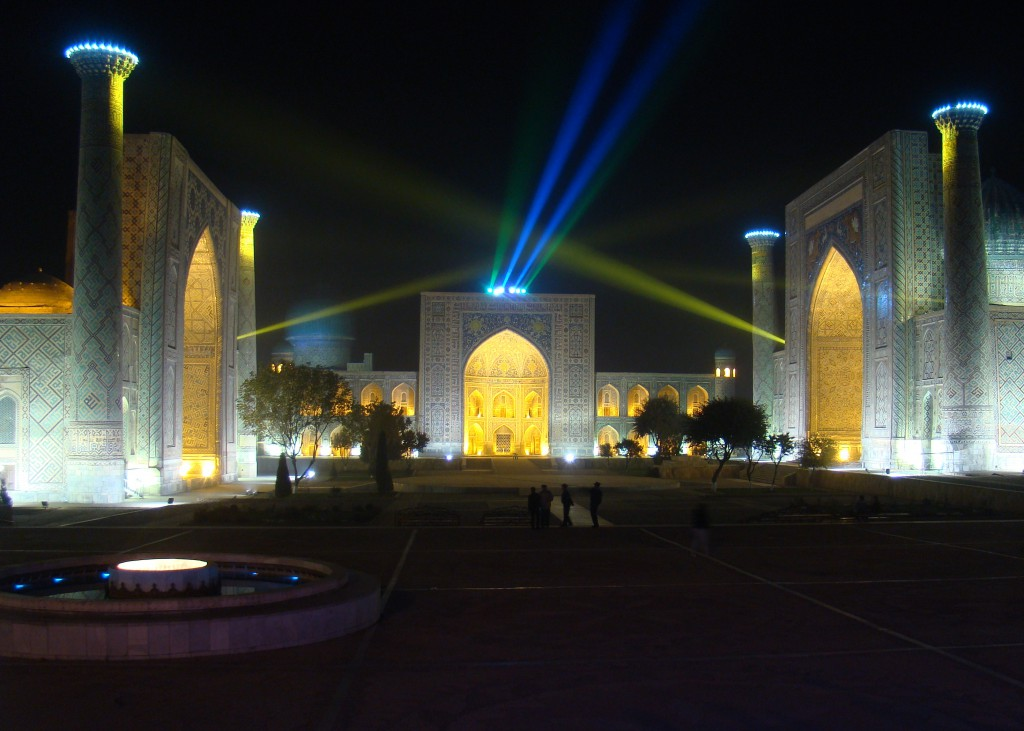 The light show in Registan Square