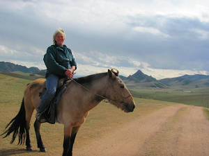 Lynne Attwood in Mongolia