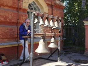 David from the UK bell ringing in Irkutsk