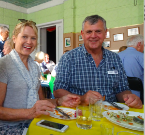 Tina and George at the Old Believers' dinner