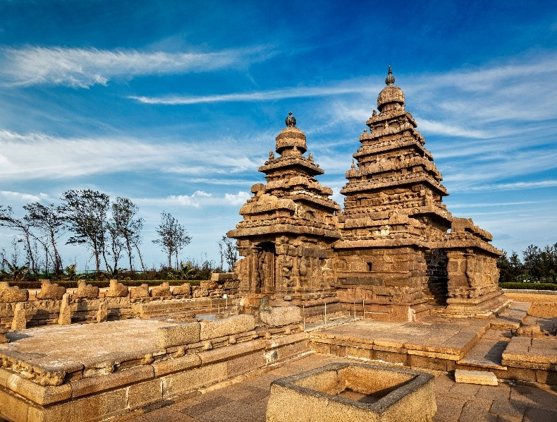 The Shore Temple in Chennai, India