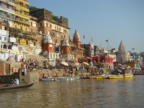 Ghats in Varansi, India, leading to the River Ganges