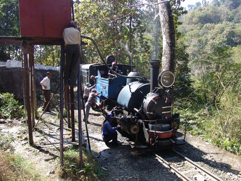 The Darjeeling Himalayan Railway in India