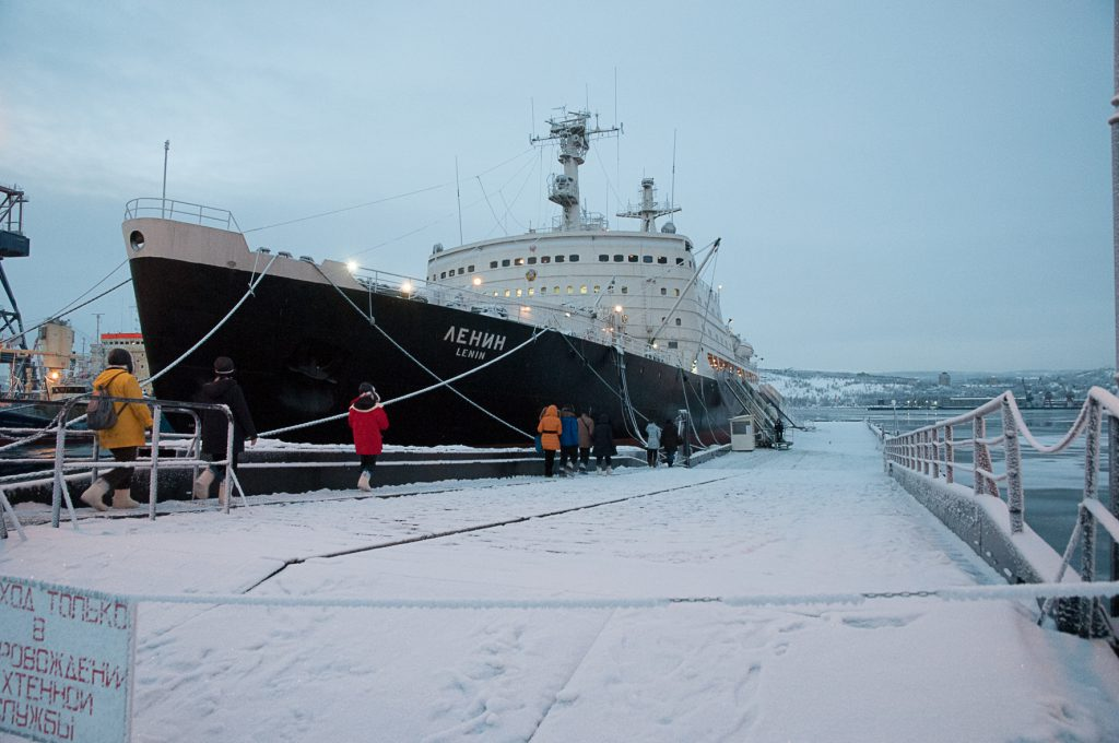 The Nuclear Icebreaker Museum Ship in Murmansk.