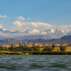 Lake Issyk-Kul in Kyrgyzstan