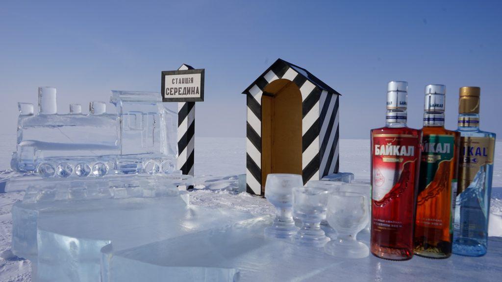Ice cold vodka to enjoy on a frozen Lake Baikal