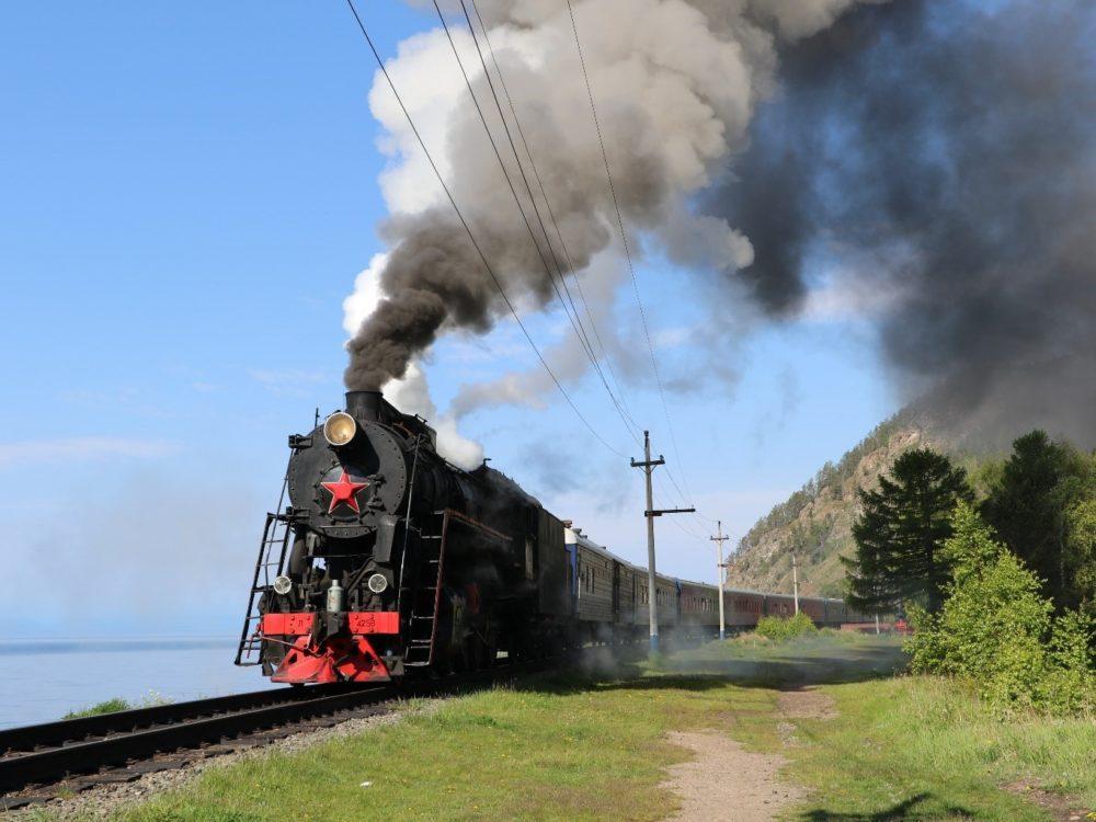 Steam engine at Lake Baikal