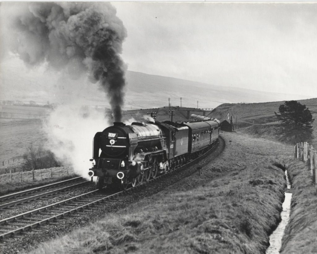 Steam train running from Manchester to Edinburgh