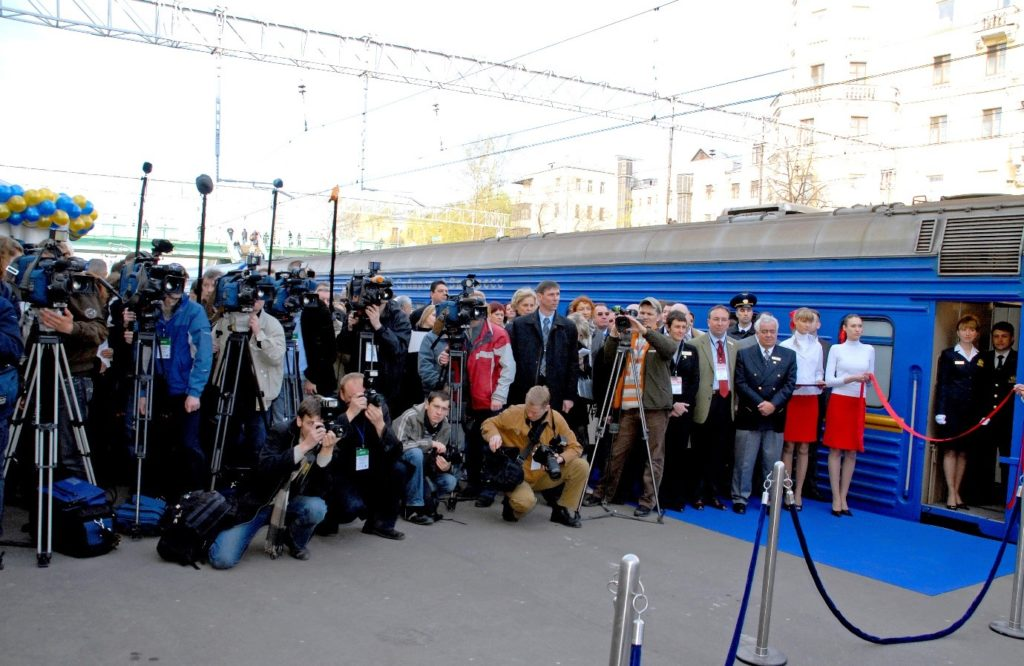 Media presence at the launch of the Golden Eagle