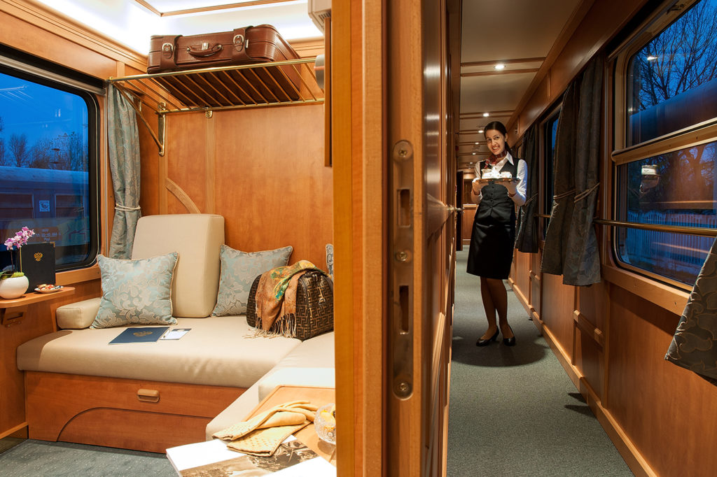 A Superior Deluxe cabin on the Golden Eagle Danube Express