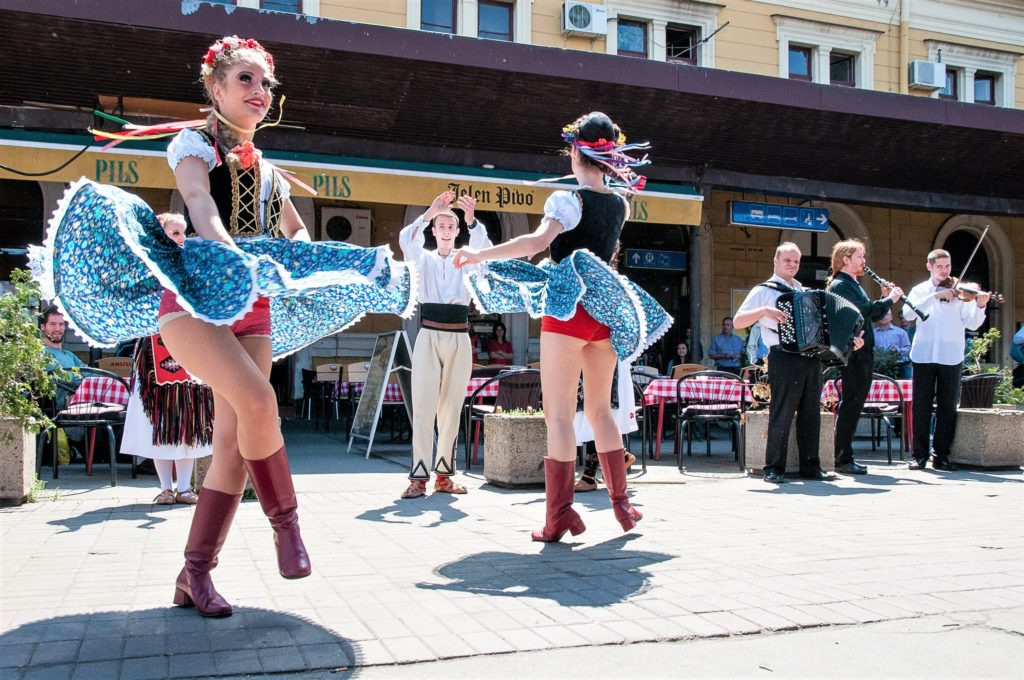 Traditional dancing in Belgrade, Serbia