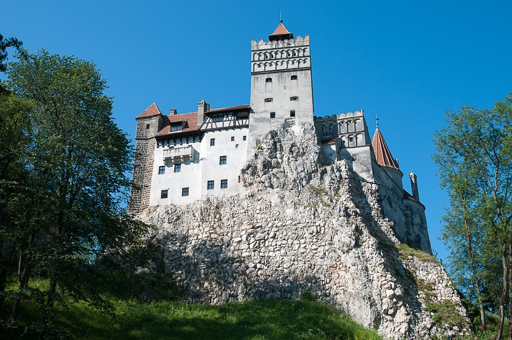 The exterior of Bran Castle, Romania