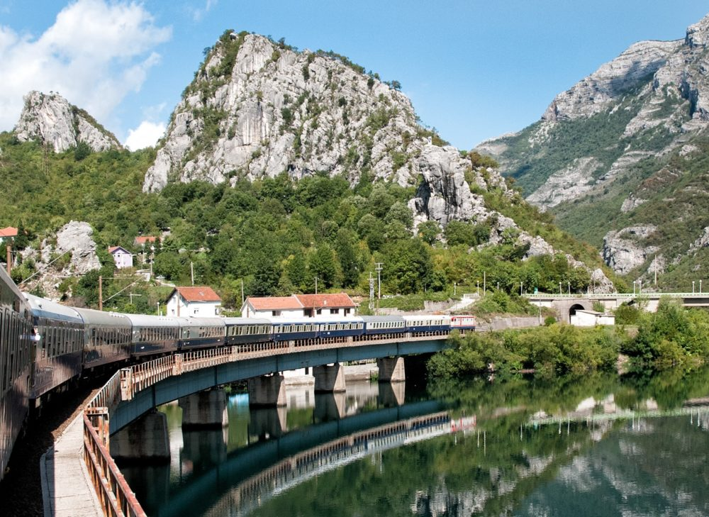 The Danube Express train travelling through Neretva Valley