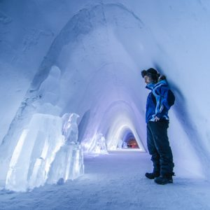 Inside the Snow Hotel, Kirkenes, Norway