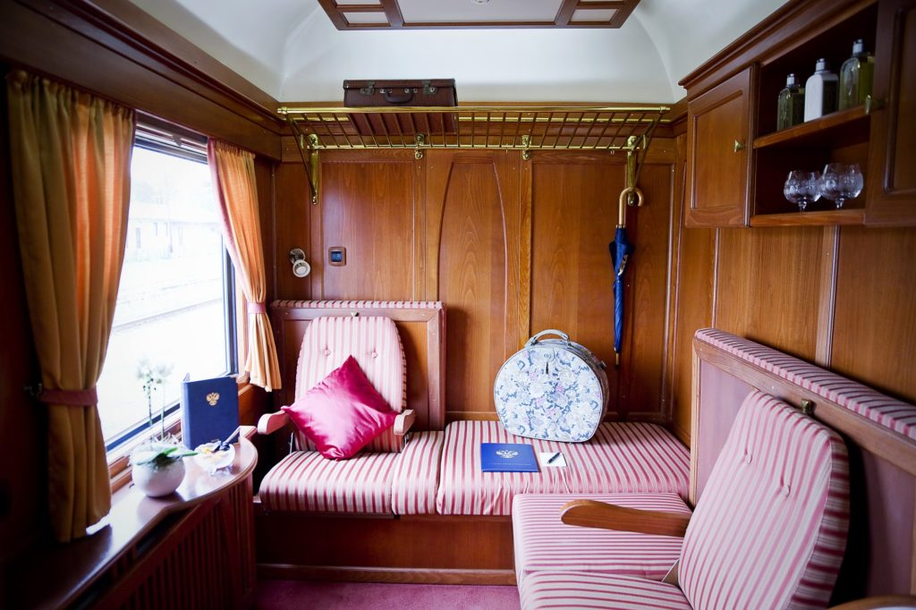 A Deluxe Class cabin on the Golden Eagle Danube Express train
