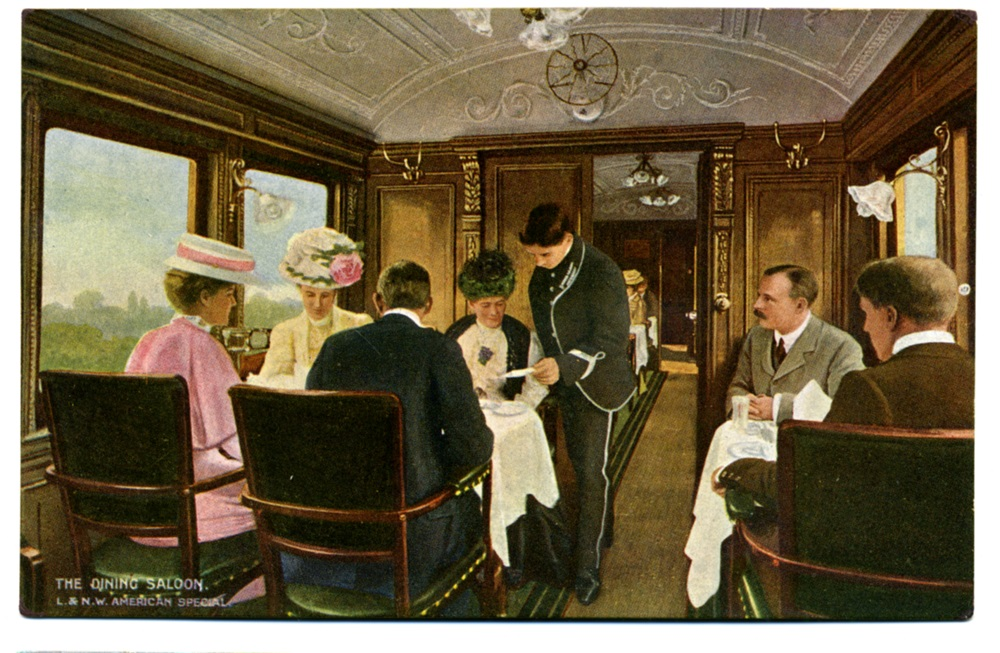 LNWR American Special dining saloon.